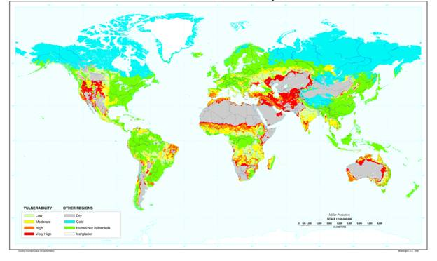 World map of Dry Regions