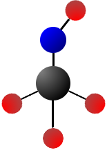 image of a methanol molecule